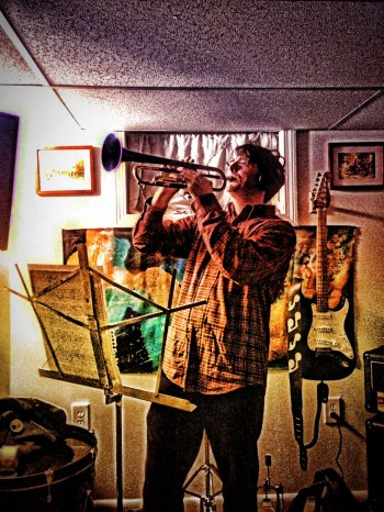 Chris on the Trumpet